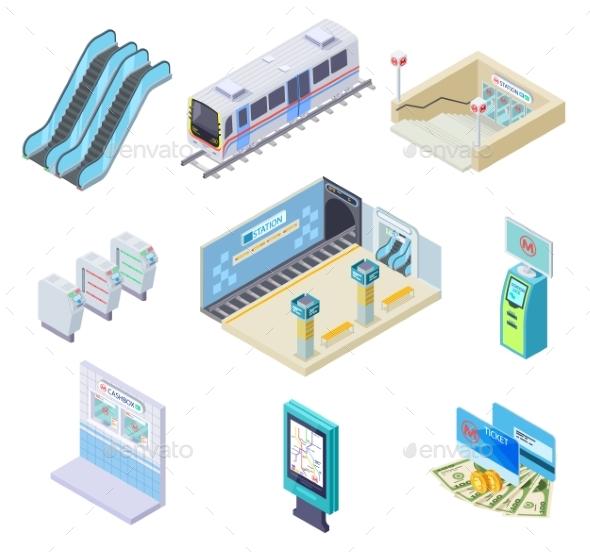 Isometric Metro Elements
