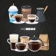 Drinks Menu Elements on Blackboard - GraphicRiver Item for Sale