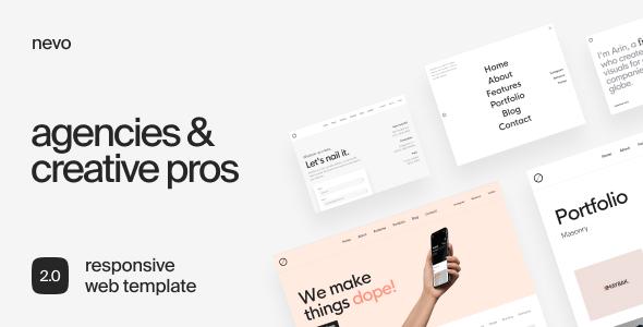 Nevo - Freelancer & Agency Portfolio Template - Portfolio Creative