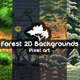 2D Game Forest Backgrounds Pixel Art - GraphicRiver Item for Sale