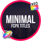 Titles Minimalism | FCPX or Apple Motion - VideoHive Item for Sale