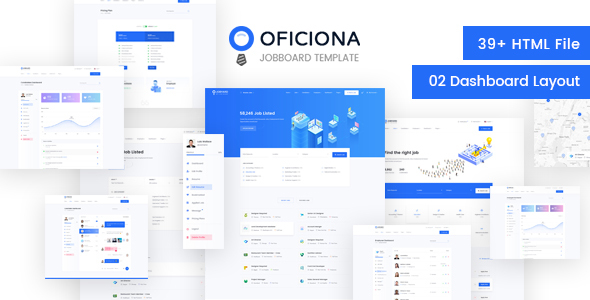 Oficiona - Job Board HTML Template - Business Corporate