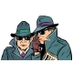 Two Secret Agents Whispering - GraphicRiver Item for Sale