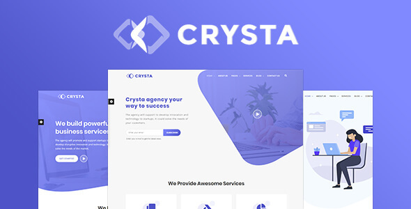 Crysta - Startup Agency and SasS Business WP Theme - Software Technology