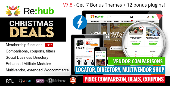 Nulled - REHub v7 8 8 - Price Comparison, Affiliate Marketing, Multi