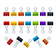 Realistic Detailed Color Binder Clips Set - GraphicRiver Item for Sale