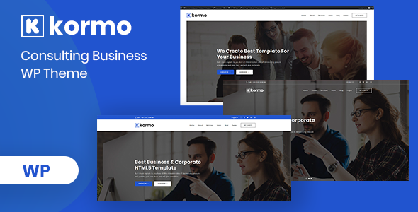 Kormo – Consulting Business WordPress Theme - Business Corporate