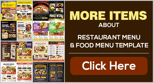 Restaurant Menu - Food Menus Template