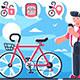 Bike Sharing System Station on City Street - GraphicRiver Item for Sale