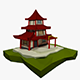 Low Poly Chinese House - 3DOcean Item for Sale