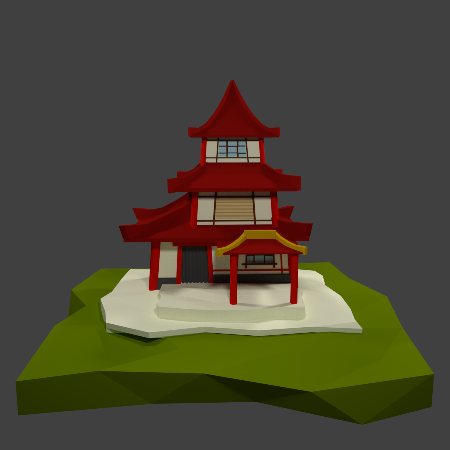 Low Poly Chinese House