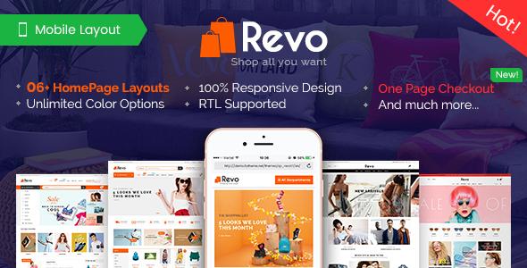 Revo - Premium Responsive PrestaShop Theme for Mega Store with Mobile-Specific Layout - Shopping PrestaShop