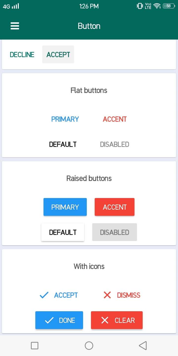 React native Material design | Component