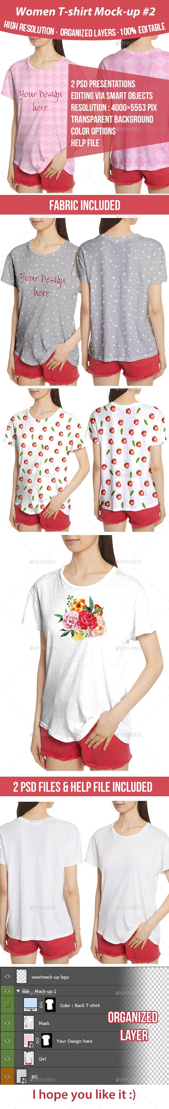 Women T-shirt Mock-up #2