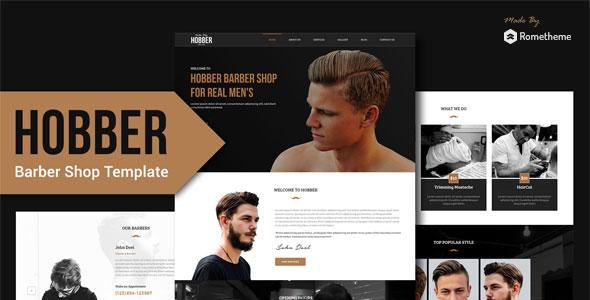 Hobber - Barbershop, Hair & Salon PSD Template
