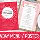 Valentines Menu Template - GraphicRiver Item for Sale