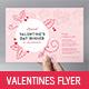 Valentine's Day Menu Flyer - GraphicRiver Item for Sale