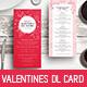 Valentines Day DL Menu Rack Card - GraphicRiver Item for Sale