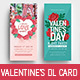 Valentine's Day DL Rack Card - GraphicRiver Item for Sale