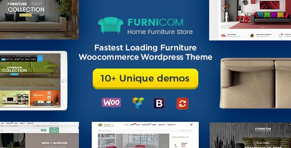 Furnicom - Furniture Store & Interior Design WordPress WooCommerce Theme (10+ Homepages Ready) - WooCommerce eCommerce