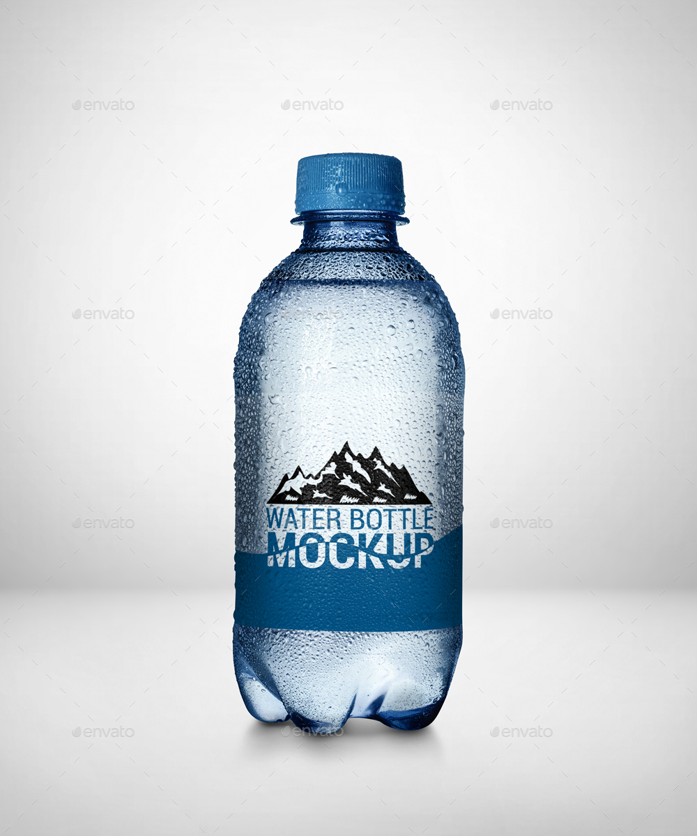 4fc7a0e51 4 Mini Water Bottle Mockup by Pixelica21