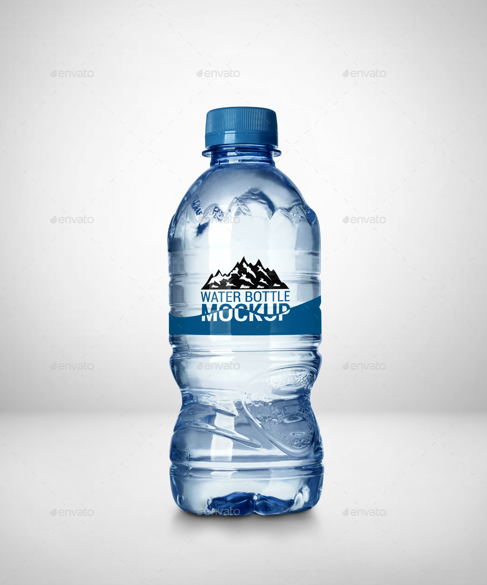 4 Mini Water Bottle Mockup