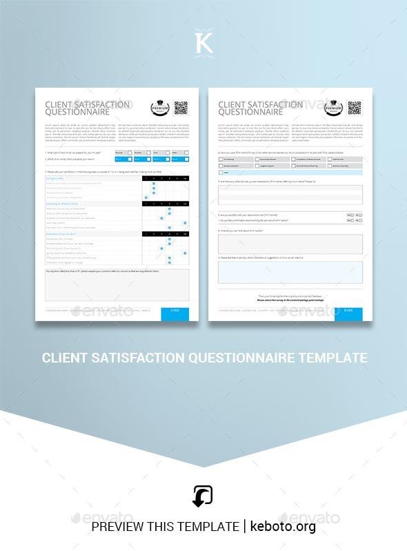 Questionnaire Template | Indesign Questionnaire Template Graphics Designs Templates
