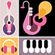 Concert Pop Art Collage vector illustration - GraphicRiver Item for Sale