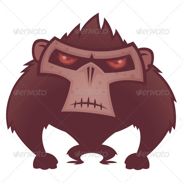 Angry Ape - Animals Characters