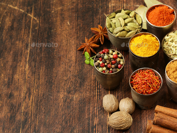 Variety of Spices - Stock Photo - Images