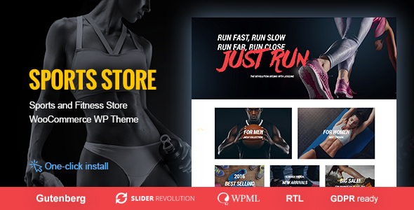 Sports Store � Sports Clothes & Fitness Equipment Store Theme