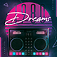 80s Flyer Retrowave Poster Synthwave DJ Disco Dance Party - GraphicRiver Item for Sale