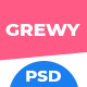 Grewy - Creative Multipurpose PSD Template - ThemeForest Item for Sale