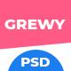 Grewy - Creative Multipurpose PSD Template - ThemeForest Item for Sale