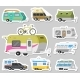 Set of Trailers or Family RV Camping Caravan - GraphicRiver Item for Sale