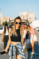 Five young women have fun at the car park - PhotoDune Item for Sale