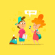 Two Happy School Kids Communication - GraphicRiver Item for Sale