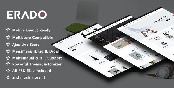 Erado - Elegant Furniture Responsive PrestaShop 1.7 Theme - Shopping PrestaShop