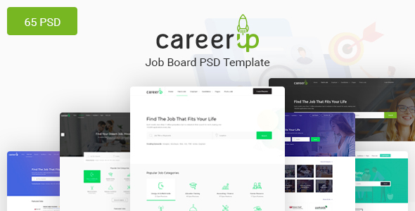 CareerUp - The Most Popular Job Board PSD Template - Corporate PSD Templates