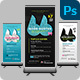 Conference / Talk Event Roll Up Banner - GraphicRiver Item for Sale