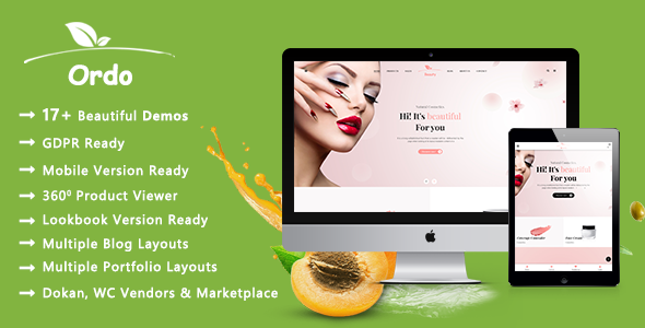Ordo – Organic Beauty and Eco Products WooCommerce WordPress Theme Free Download