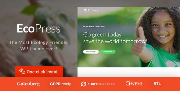 Eco Press - Nature, Ecology & NGO WordPress Theme - Environmental Nonprofit