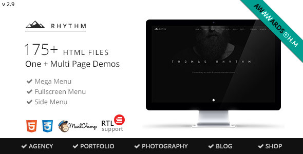 Rhythm - Multipurpose One/Multi Page Template - Creative Site Templates