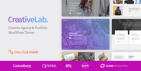 Creative Lab - Creative Studio Portfolio & Agency WordPress Theme