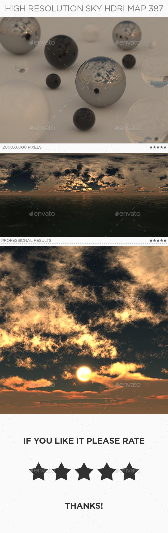 High Resolution Sky HDRi Map 387 - 3DOcean Item for Sale