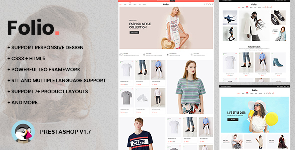 At Folio Prestashop 1.7.5.x Theme for Fashion | Clothing| Bags | Shoes | Accessories