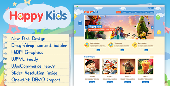 Happy Kids - Children WordPress Theme - Education WordPress