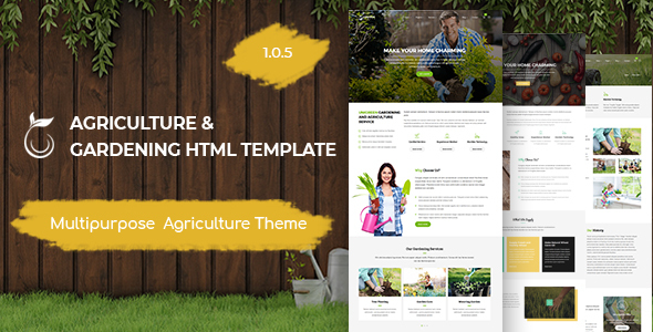 Unigreen - Agriculture and Gardening HTML Template - Business Corporate
