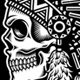 Native American Indian Chief Skull in Black and White - GraphicRiver Item for Sale