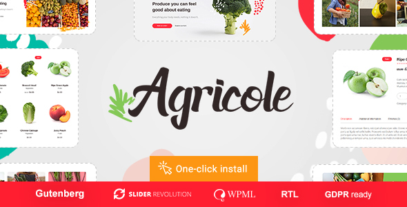 Agricole - Organic Food & Agriculture WordPress Theme - WooCommerce eCommerce
